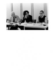 Joseph Cohen, Raphael Zagury-Orly et Jacques Derrida